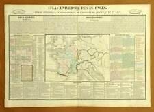 CARTE HISTOIRE DES PREMIERS ROIS DE FRANCE Planche de DUVAL 1837
