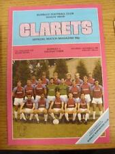 08/12/1984 Burnley v Halifax Town [FA Cup] (Score & Sub Noted). This item is in