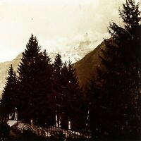 Francia Chamonix Le Aghi 1927, Foto Stereo Placca Lente VR2L13n12