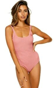 Billabong Summer High Stone Rose One Piece Swimsuit, Size 10. NWT, RRP $119.99.