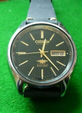 GENTS STAINLESS STEEL CITIZEN AUTOMATIC WRISTWATCH -  21 JEWELS