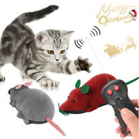 Pet Cat Dog Remote Control Toy Fake Mice Mouse Prank Rat Mock Training Gifts