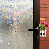 Mikomer 3D Decorative Window Film,Clear Glass Film,Rainbow Effect Door Window UV