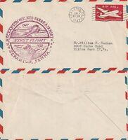 US 1947 FIRST FLIGHT FLOWN COVER FROM SCRANTON PENNSYLVANIA