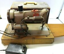 Vintage 1963 SINGER Sewing Machine 185k Fully Tested & Working with Pedal & Box