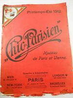 "1912 Chic Parisien Modeles de Paris Cover and inside pages of Advertising16"" x 1"