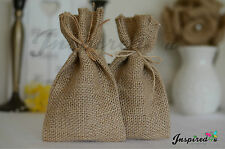 25 x HESSIAN RUSTIC WEDDING FAVOR BAGS GIFT BURLAP SANTA SACK SWEETS
