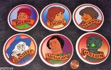 Button Set Lord of the Rings '78 animated movie Gollum Frodo Gandalf Bakshi