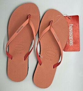 Havaianas Women's You Rainbow Pop Sandal Silk Rose Bi-Layer 7-8 US / 37-38 NEW