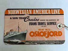 Ms Oslofjord - Norwegian America Line | Rare Pre-War Luggage Tag