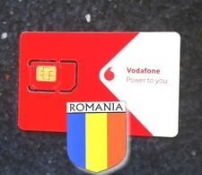 New! Romania EU Vodafone SIM card activated internet micro nano EUROPE