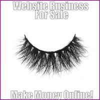 Work From Home MINK EYELASHES Website Business For Sale + Hosting + Domain