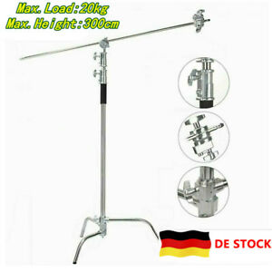 3.3 Meter Verstellbarer C-Stand Lampentständer mit 1,2 Meter Verlängerungsarm