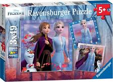 Ravensburger FROZEN 2, 3 X 49PC JIGSAW PUZZLES Toys Games BNIP