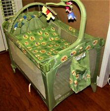 Graco Pack N Play With Bassinet And Mattress, Over Head Toys For Baby!