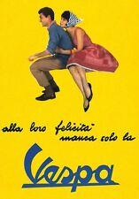 Vintage Italian Vespa Advertisement  Poster A3 Print