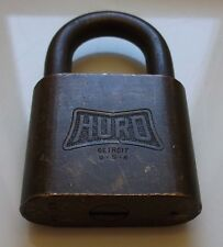 VINTAGE HURD PADLOCK NO KEY UNITED STATES NAVY-VTG-ANTIQUE-LOCKS-MILITARY-OLD