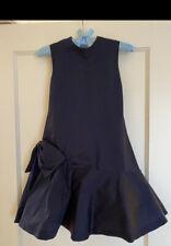 NEW STUNNING SAKS FIFTH AVENUE HELENA Girls Navy Taffetta Dress Size 10