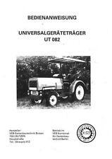 Bedienung UT082  UT 082 KfL Lübben Lübtheen Universalgeräteträger Geräteträger