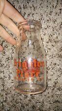 Vintage Rochester Ny Milk Bottle Half Pint 1948 Brighton Place dairy