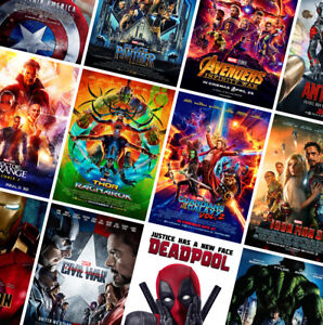 MARVEL SUPERHERO MOVIE POSTERS - A4 A3 A2 - HD Prints - Avengers, Iron Man, Thor