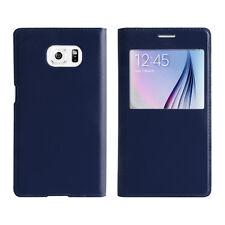 Samsung Galaxy S6 Handy Cover blau Schutz Hülle neu Case Tasche Uni Schutzhülle