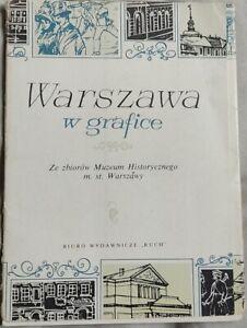 WARSZAWA W GRAFICE WARSAW IN GRAPHICS Warschau   1965   antykwariat