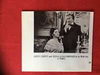 m2e ephemera 1950s film picture cutting gino cervi gina lollobrigida