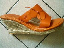 Born Bonita Orange Leather Sandals Womens Size 8