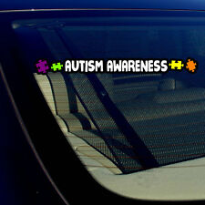 "Autism Awareness Puzzle Support Auto Window Bumper Sticker Decal 8"" Inches Long"