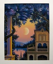 "JIM BUCKELS ""LAGO MAGGIORE"" Hand Signed Limited Edition Serigraph Art"