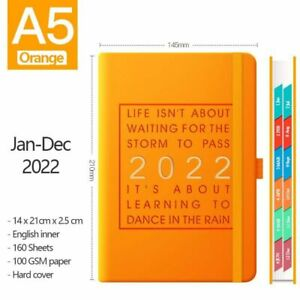 Super Thick 2022 Notebook Planner PU Leather Cover Diary School Office Schedule