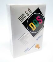 "NIB - IBM DOS Operating System Version 5.0 on 5.25"" 320KB Disks Factory Sealed"