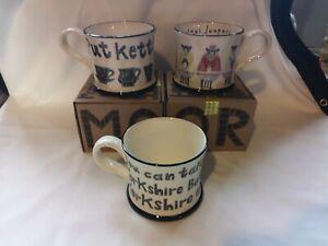 NEW Moorland Pottery mug - Gift Boxed Yorkshire Lass - Christmas Sheep - Kettle