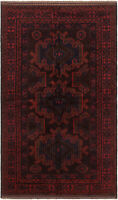 "Hand-knotted Carpet 3'11"" x 6'8"" Traditional Vintage Wool Rug"