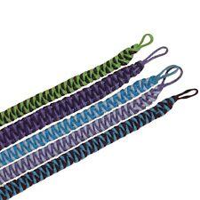 5 x Random Waxed Cord Cuff Braclets / Wristbands 5 x Mixed Colours