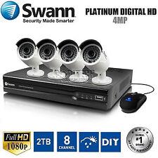 Swann NVR8-7400 - 8 Channel HD- 4.0MP 2TB NVR + 4x NHD-818 HD Cameras CCTV Kit*