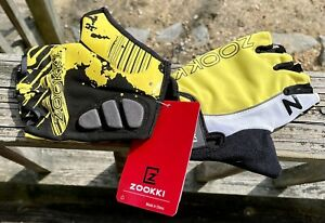 Zookki Bicycle Fingerless Riding  Gloves Size EX LG Padded Palm These Are*NWT*