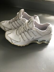Women's Nike Shox NZ Running Training White Gray Silver Shoes Size 6
