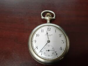 NEW YORK STANDARD USA WATCH CO 7j POCKET WATCH  RUNNING