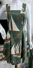 Ralph Lauren Green Sailor Ocean Dress Women Size 2