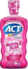 Act Kids Anti-Cavity Fluoride Rinse Bubblegum Children'S Mouthwash With Fluoride