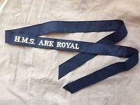 Original British Royal Navy HMS Ark Royal Cap Tally - Genuine Issue