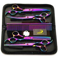 """DE Profi 7"""" Friseur Haarscheren Salon Effilierschere Friseurschere Haarschneiden"""