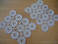 7x Light Blue Crochet Placemat Cotton Lace Home Dining Table Mat Cover Doilies