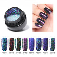 NICOLE DIARY Chameleon Glitter Flakies UV Gel Nail Art Polish Manicure Varnish