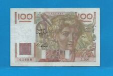 Billet 100 FRANCS  Jeune Paysan 17-2-1949  L.300