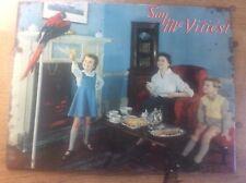 RARE Biscuit Advertising Tin Sign SAY MCVITIES Talking Parrot & Children Family