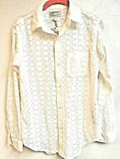 Current Elliot off White Eyelet Top The Prep School Shirt Size 1 Nwt blouse