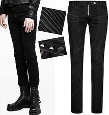 Jeans pantalon gothique punk biker warrior genouillère armure PunkRave Homme